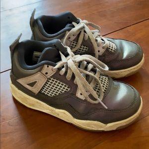 Girls Nike air Jordan purple sneakers, size 11c